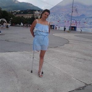 Olga: Clip 1 Holiday crutching and shopping